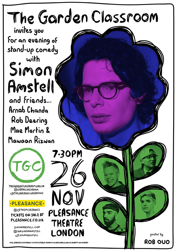 Comedy fundraiser at the Pleasance Theatre